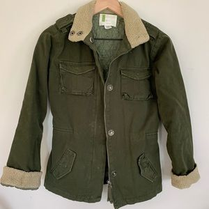 Urban Outfitters Army Green Utility Jacket, XS